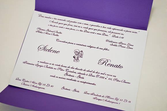 Modelos de Convites de Casamento