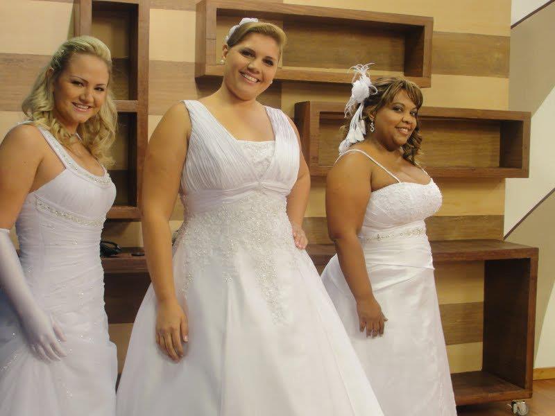 Mulheres Cheinhas Tem Opções Maravilhosas de Vestido de Noiva